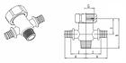 Разветвитель RAUTITAN на 2 трубы (крестовина) 16-R 1/2, фото 2