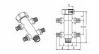 Разветвитель RAUTITAN на 4 трубы (двойная крестовина) 16-R 1/2, фото 2