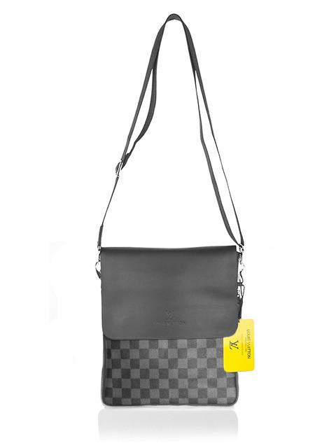 4539645b00d0 Мужская сумка Louis Vuitton, черная с серым Луи Виттон: продажа ...
