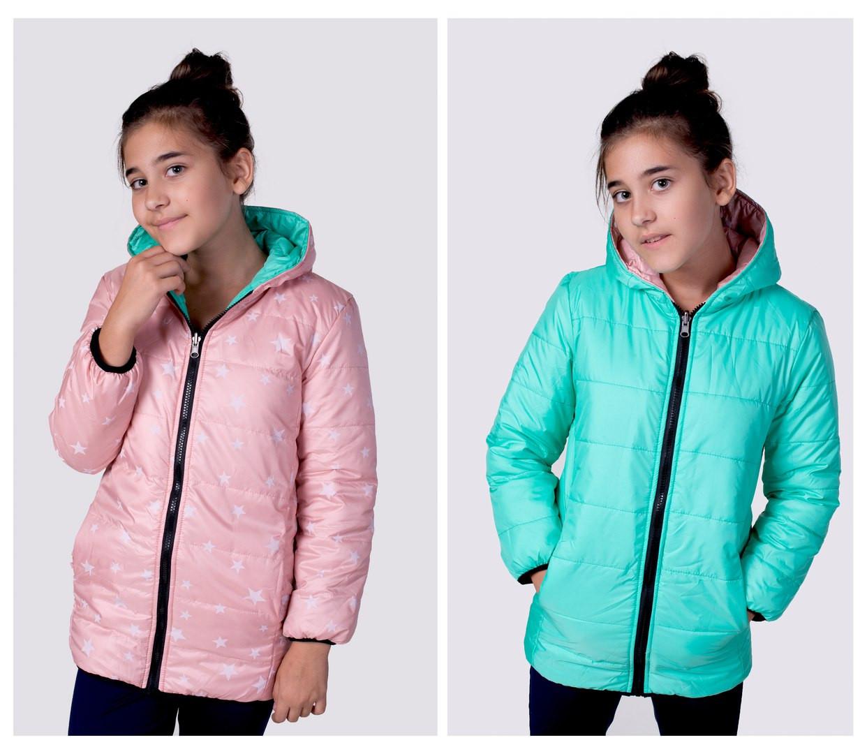 c8a7a5f854763 Подростковая демисезонная курточка двухсторонняя весна / осень на мальчика  и на девочку -