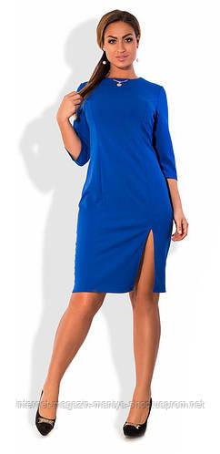 Платье женское с разрезом полу батал