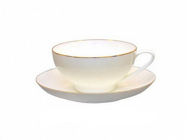 Чашка чайная с блюдцем И.Ф.З. Купольная Золотая лента 300 мл 16430