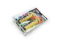 "Ручки руля на мототехнику   ""DBS""   (mod:1, желто-черные)   (#YMBT)"