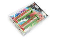 "Ручки руля на мототехнику   ""DBS""   (mod:1, зелено-красные)   (#YMBT)"