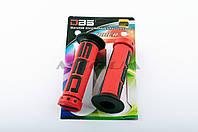 """Ручки руля на мототехнику   """"DBS""""   (mod:1, красно-черные)"""