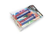 """Ручки руля на мототехнику   """"DBS""""   (mod:1, сине-красные)   (#YMBT)"""