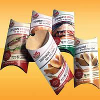 Картонная упаковка для полуфабрикатов (под сендвичи, бутерброды, готовые завтраки)
