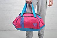 Яркая спортивная сумка адидас (Adidas), розовая