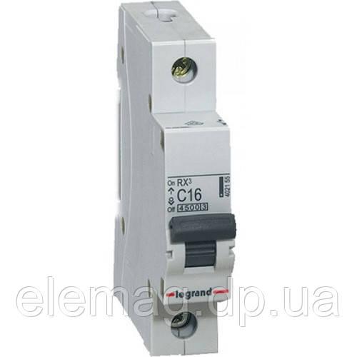 Автоматический выключатель 1 полюс 63A тип C 4,5кА Legrand серии RX³