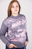 Теплая женская кофта батал, фото 1