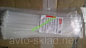Хомути пластикові 250х3,6 (100 шт) білі APRO