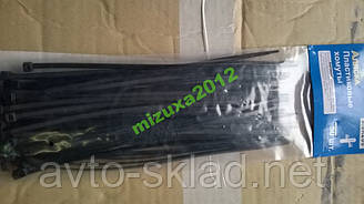 Хомути пластикові 200х3,6 (50 шт) чорні Аляска