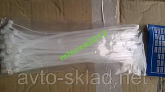 Хомути пластикові 200х3,6 (50 шт) білі Аляска