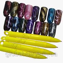 Магнит для гель-лака Кошачий глаз - ручка с магнитным наконечником, фото 2