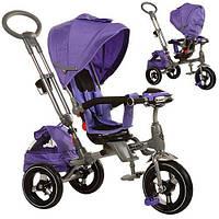 Детский трехколесный велосипед с родительской ручкой, поворотное сиденье (M 3203HA-1)
