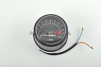 Тахометр выносной универсальный на мототехнику  (аналоговый, хром, 12000об/мин)   (mod:MY-011)