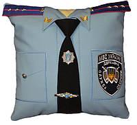 Сувенирная подушка в авто МНС, МВС и СБУ, фото 1