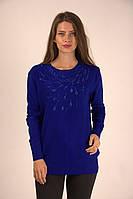 Лаконичная кофта синего цвета, фото 1