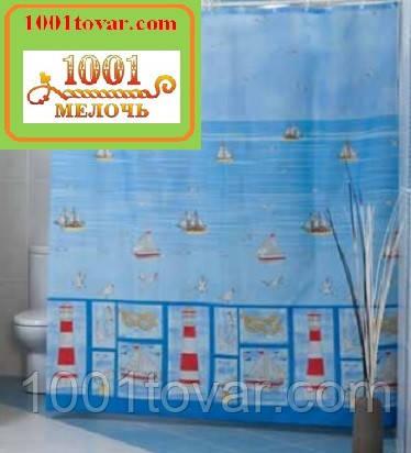 """Шторка для ванной комнаты """"Sea Life"""", Miranda. Производство Турция"""
