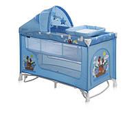 Манеж-кровать NANNY 2 Layers Plus Rocker BLUE ADVENTURE