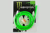 """Шланг топливный   Ø4mm, 1 метр   (зелёный)   """"MONSTER ENERGY""""   (XJB)"""