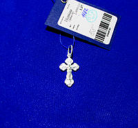 Крестик серебряный подвес