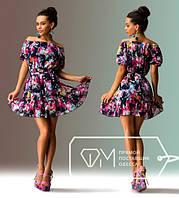"""Стильное молодежное платье мини """" Цветочки """" Dress Code , фото 1"""