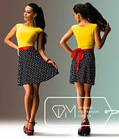 """Стильное молодежное платье мини """" Мелкий горох """" Dress Code"""