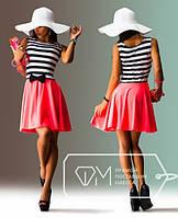 """Стильное молодежное платье мини """" Морячка бантик """" Dress Code , фото 1"""
