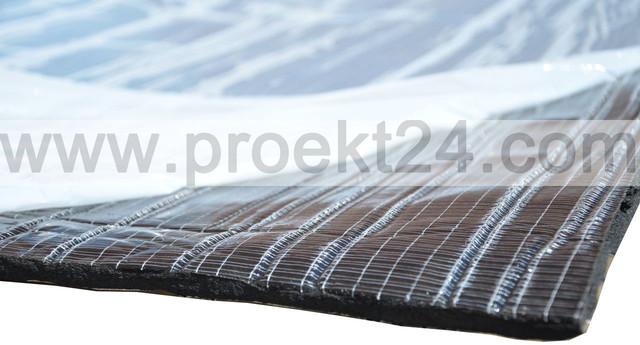 Вспененный каучук 32мм самоклеющийся фольгированный (утеплитель, шумоизоляция)