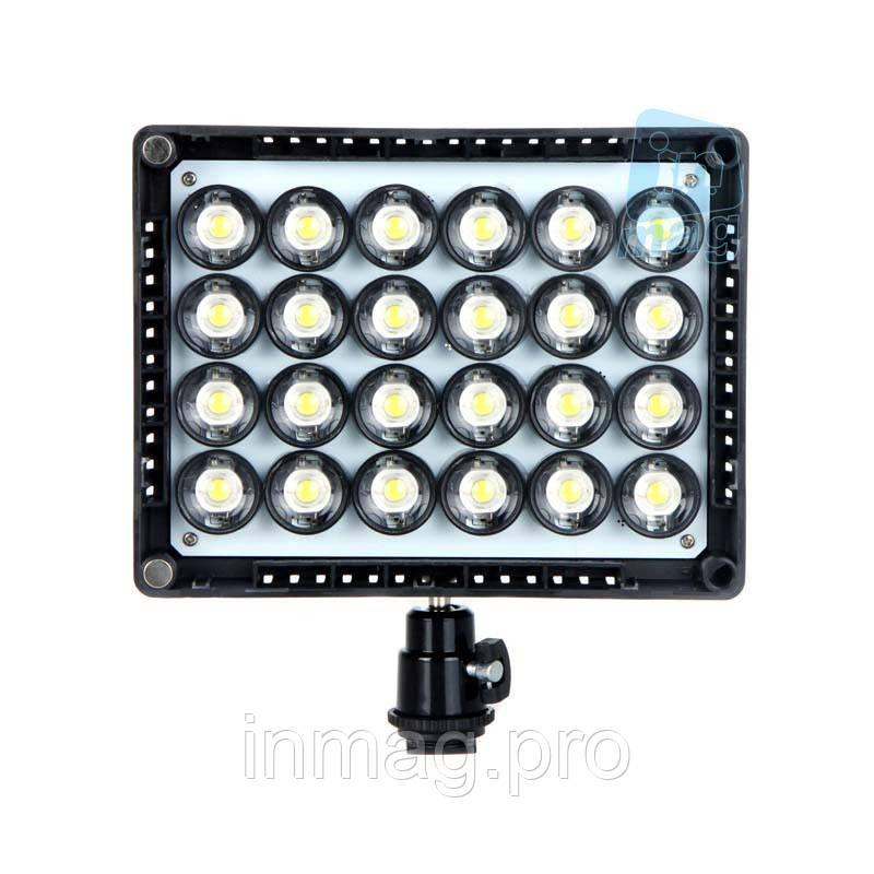 Накамерный светодиодный свет Wansen W24, 5600K (3200K/фильтр).