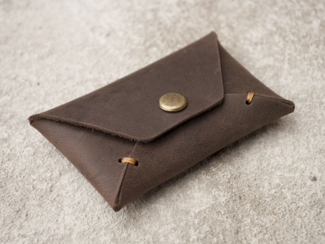 "Карт холдер ""Envelope brown2"", тёмно-коричневый"