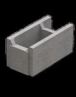 Блок несъемной опалубки (пустотный бетонный блок, бетонная опалубка) 510х250х235
