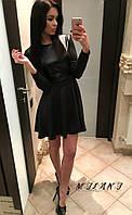 """Стильное молодежное платье мини """" Экокожа """" Dress Code , фото 1"""