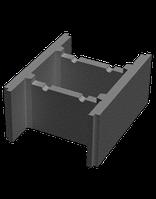 Блок незнімної опалубки (пустотний бетонний блок) 510х400х235