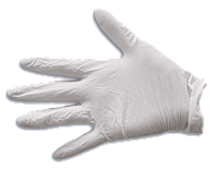 Перчатки латексные одноразовые, L (упаковка 10шт.) TECHNICS