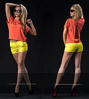 """Стильный молодежный костюм """" Блузка и шорты """" Dress Code, фото 1"""