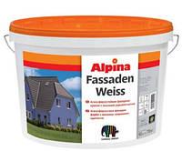 Alpina Fassadenweiss В3 9,4 л Атмосферостойкая фасадная краска с высокой укрывистостью