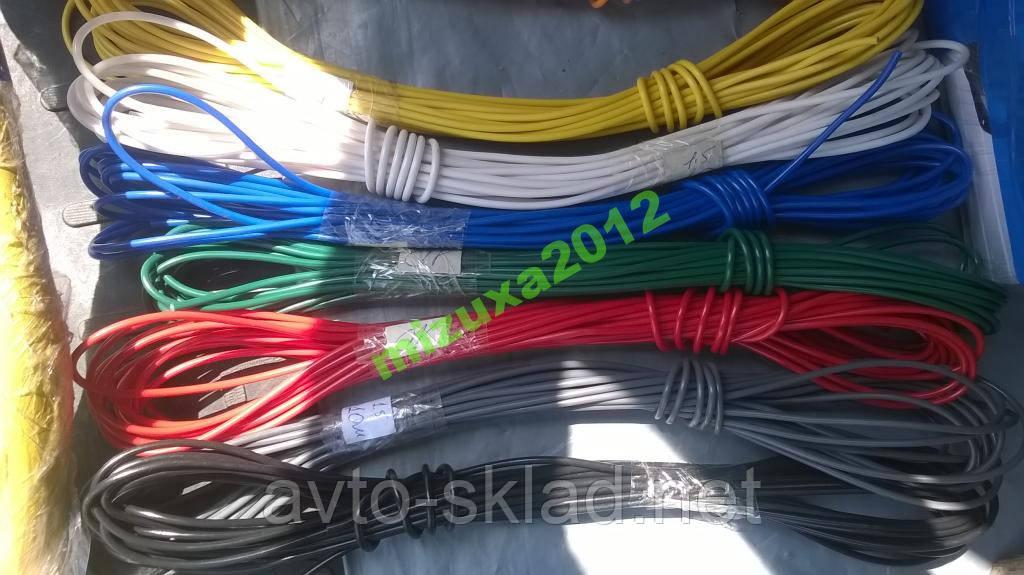 Провод сечение 0,75 авто (кабель) ВСЕ ЦВЕТА