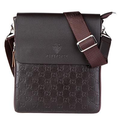 Мужская сумка Gucci, коричневая Гуччи ( код: IBM021K )