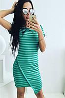 """Стильное молодежное платье мини """" Полоска уголок """" Dress Code , фото 1"""