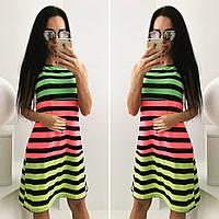 """Стильное молодежное платье мини """" Разноцветная полоска """" Dress Code , фото 1"""