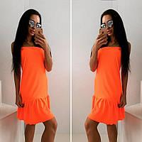 """Стильное молодежное платье мини """" Неон """" Dress Code , фото 1"""