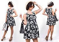 """Стильное молодежное платье мини """" Цветы """" Dress Code , фото 1"""