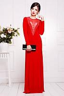 Длинное вечернее красное платье в пол Аркадия 42-50 размеры
