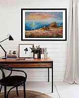 «Весна в Opal Cliffs» картина маслом в интерьере