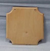 Панно декоративное - 8 (с фрезой) с 2-мя отверстиями, 16х16см