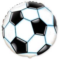 """Фольгированный шар надутый гелием с рисунком """"Футбольный мяч"""""""