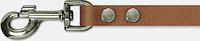 Поводок двухлицевой прошитый(кожа) 20мм/130см, коричневый
