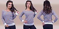 """Стильная женская кофта  """" Полоска """" Dress Code, фото 1"""